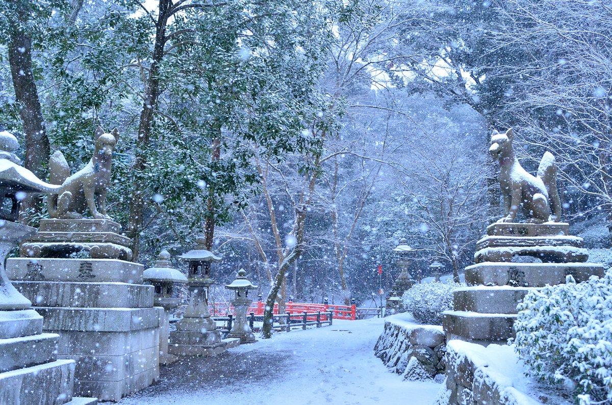Япония зимой - Киото в снегу