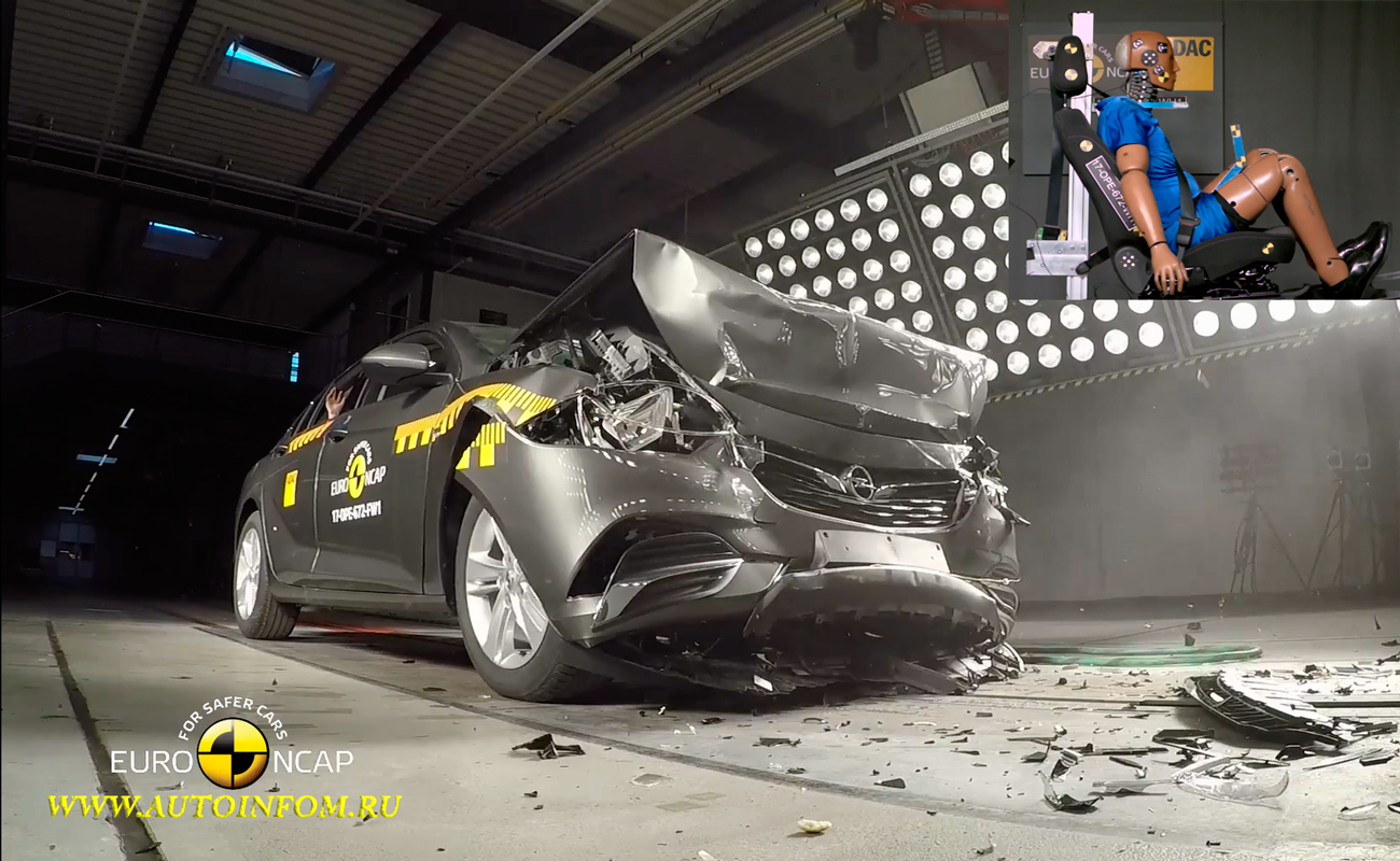 Full Crash Test Opel Vauxhall Insignia 2017