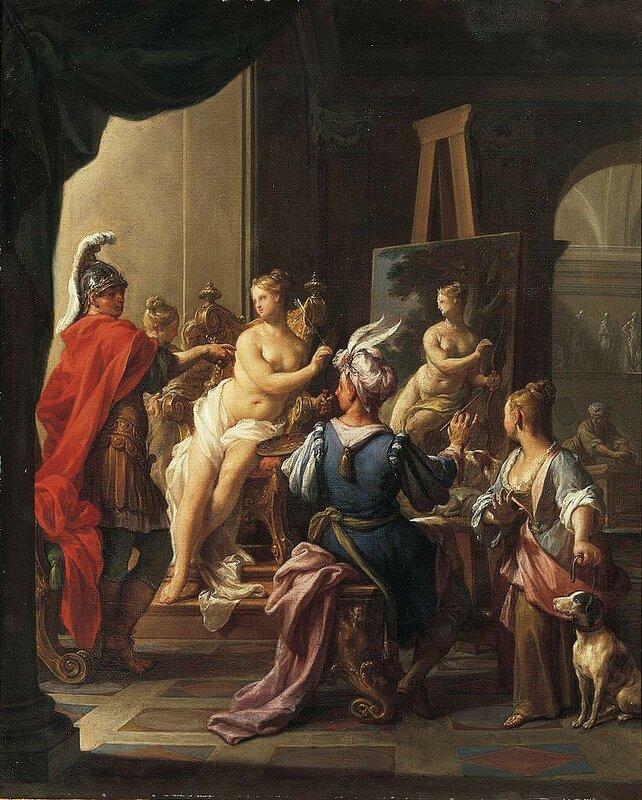 1720  - Apelles Painting Campaspe, 1720.jpg