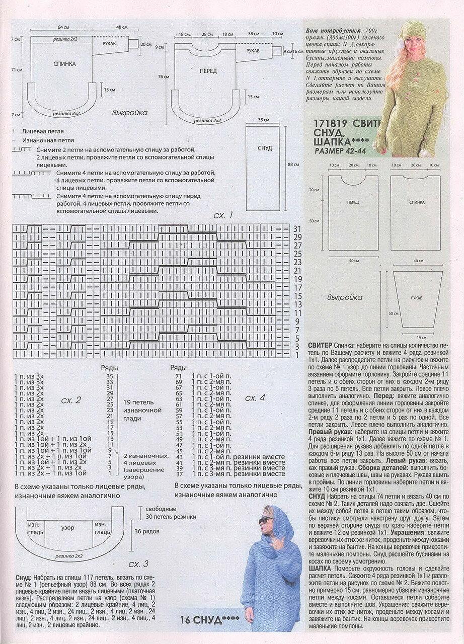 Схема вязания зимней шапки для детей 38