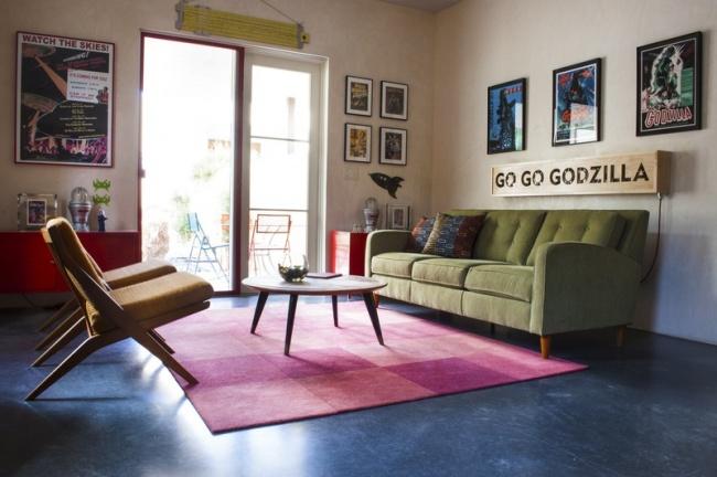 © apartmenttherapy  Совсем необязательно делать студию невзрачной, выбирая только светлые пал