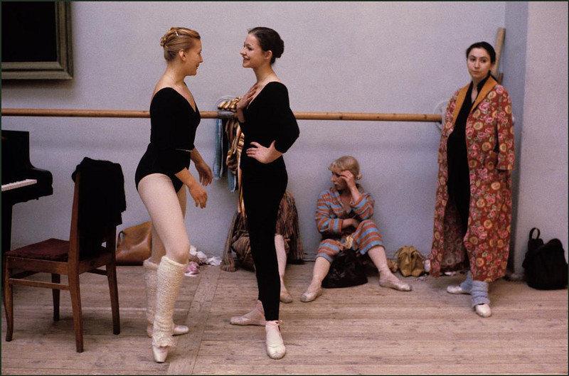 Балерины во время репетиции.