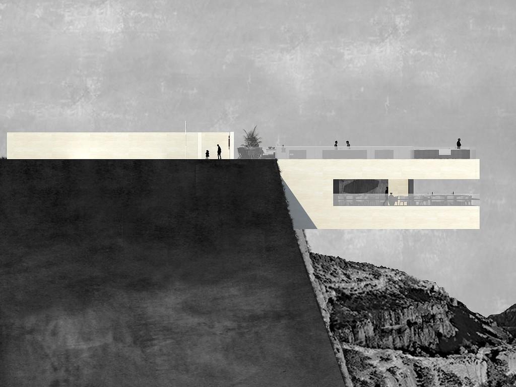 Уникальный бар будет состоять из двух уровней. Верхнее пространство оборудуют столиками и бассейном,