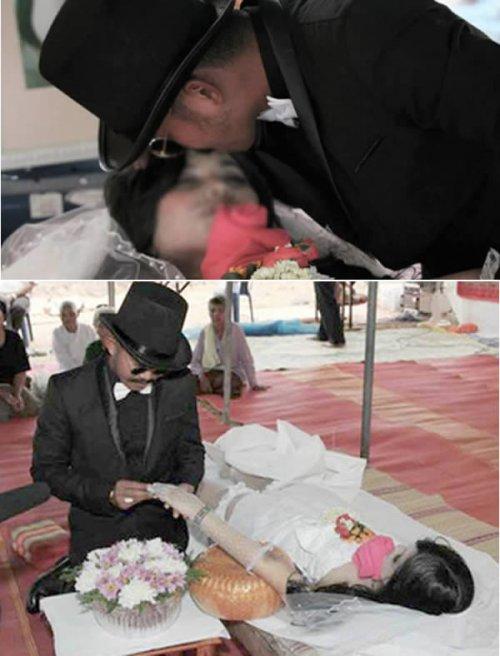 Житель Тайваня женился на своей подруге, погибшей в дорожном происшествии, во время похоронно-св