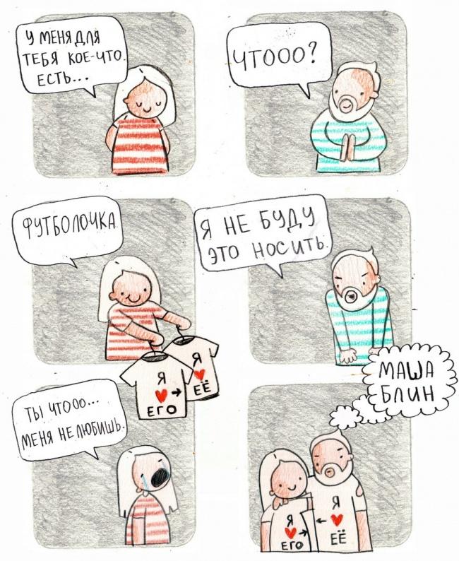 12чертовски милых комиксов отом, как мужчины относятся кженским странностям