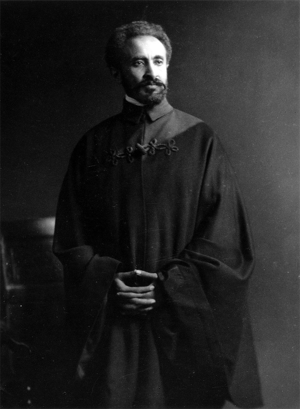Потомок царя Соломона и царицы Савской - Хайле Селассие, последний император Эфиопии