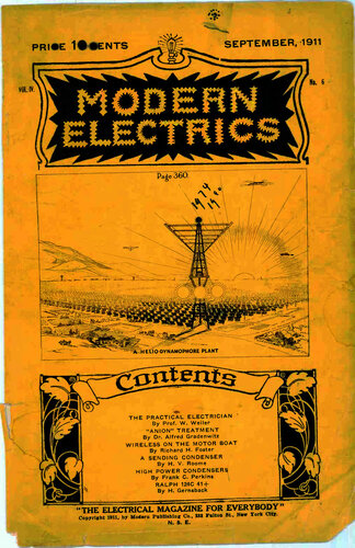 Modern Electrics: September 1911 - - Book Cover