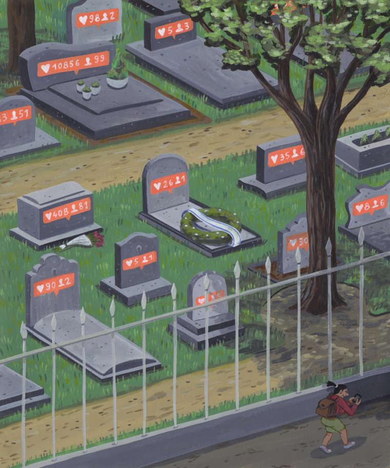 Social Media Addiction - The satirical illustrations by Brecht Vandenbroucke
