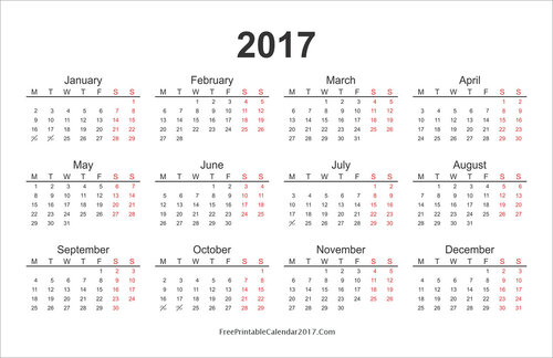 черно-белый календарь
