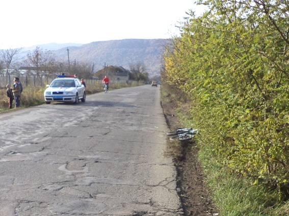 Водитель легковушки сбил 10-летнего велосипедиста на Закарпатье. ФОТО