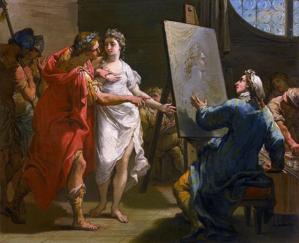1793 GAETANO GANDOLFI ALEXANDER PRESENTING CAMPASPE TO APELLES.jpg