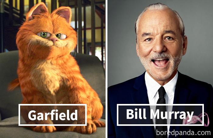 Гарфилд — Билл Мюррей.