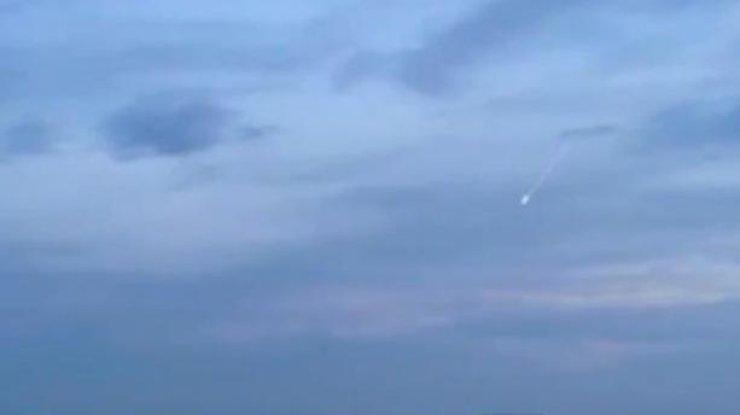 ВАнглии сняли навидео падение метеорита