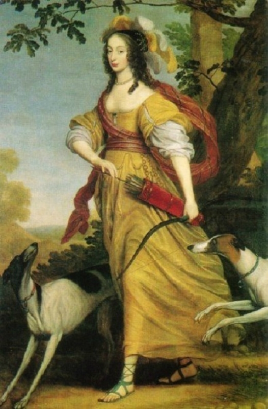 1640 Willem van Honthorst (Dutch artist, 1594-1666) Henriette von Nassau as Diana.jpg