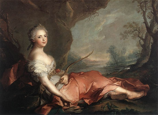 +1745 Jean-Marc Nattier (French painter, 1685-1766) Madame Adélaïde as the goddess Diana.jpg