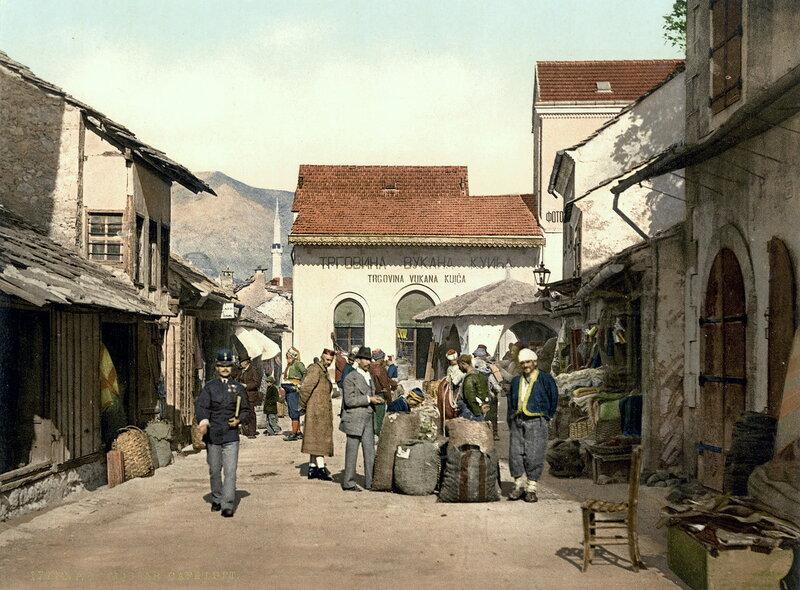 кафе в Мостаре, конец XIX века