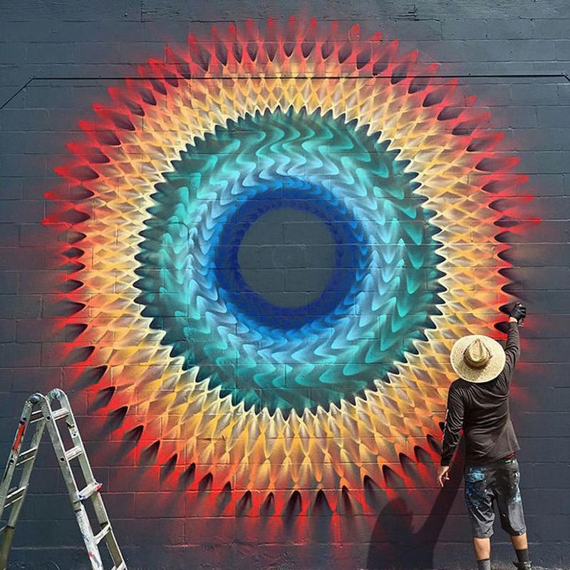 A arte de rua caleidoscopica de Douglas Hoekzema (11 pics)