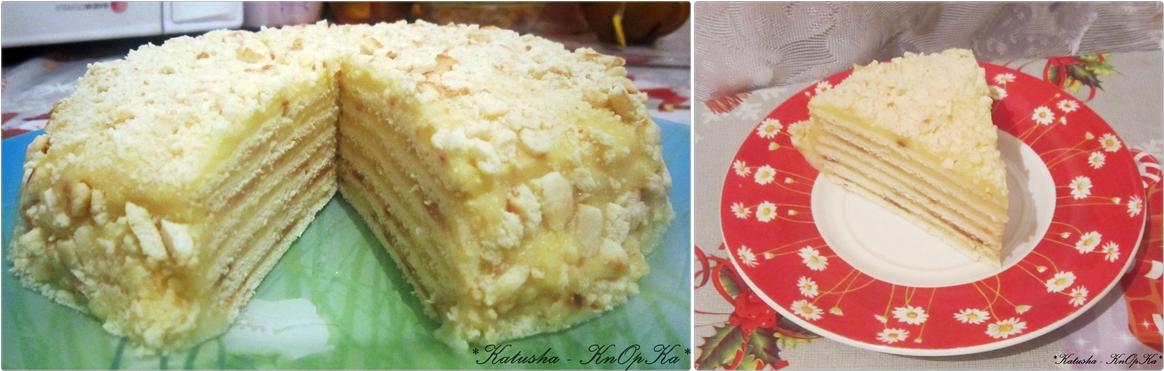 Рецепт торта с коржами с заварным кремом