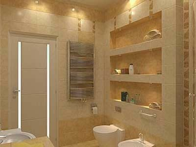 Ниша в ванной комнате-эффектная деталь Вашего интерьера