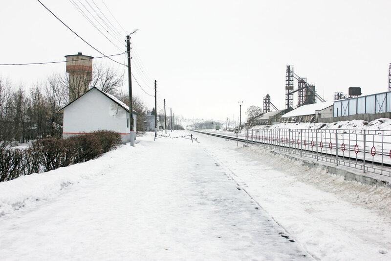 Бывшая южная береговая платформа станции Залегощь, вид на Верховье
