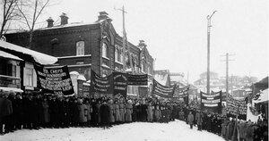 1924. Златоуст. Траурное шествие в день похорон Владимира Ленина