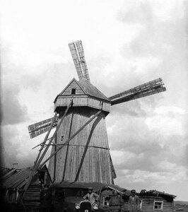 1929. Троицкий округ.  Действующая ветряная мельница