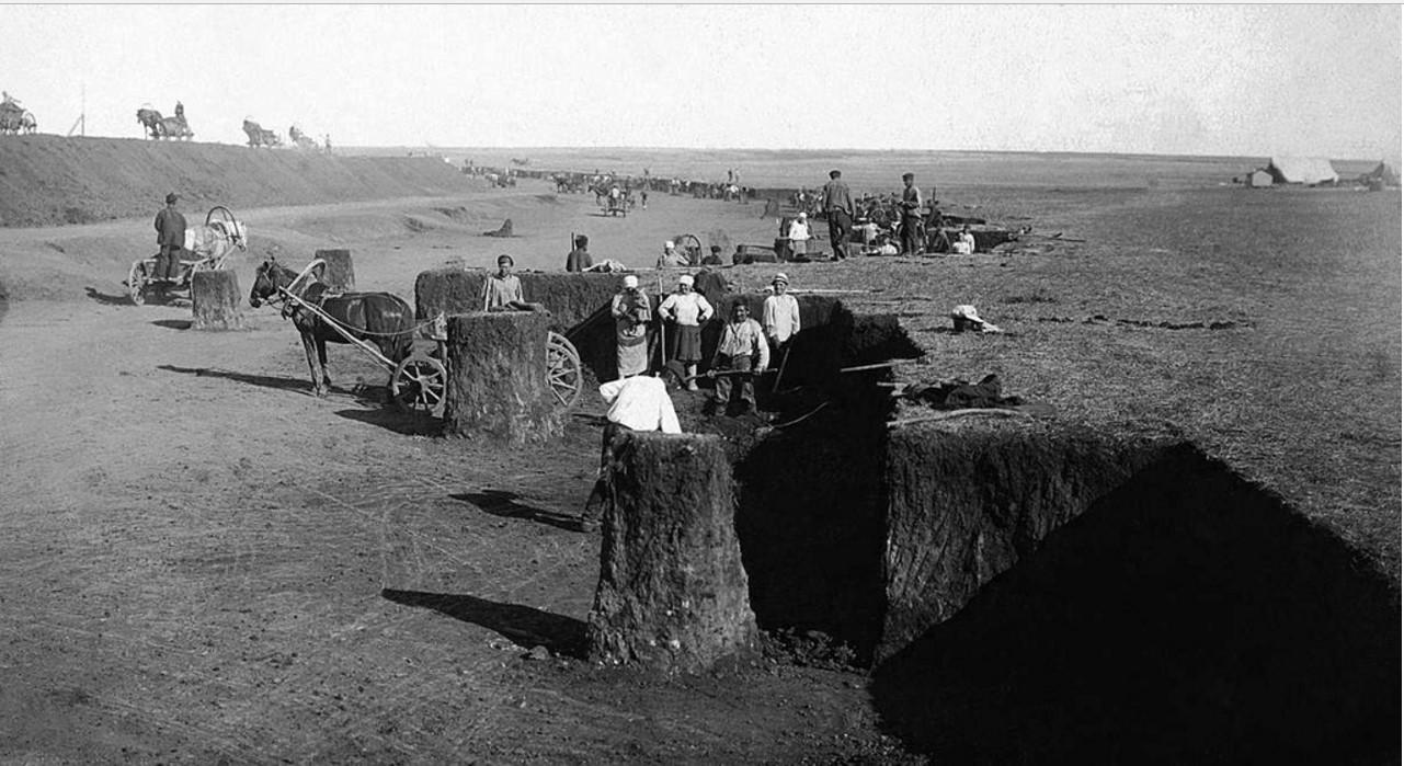 1929. Троицкий округ.   Земляные работы на 47 километре Магнитогорской железнодорожной линии