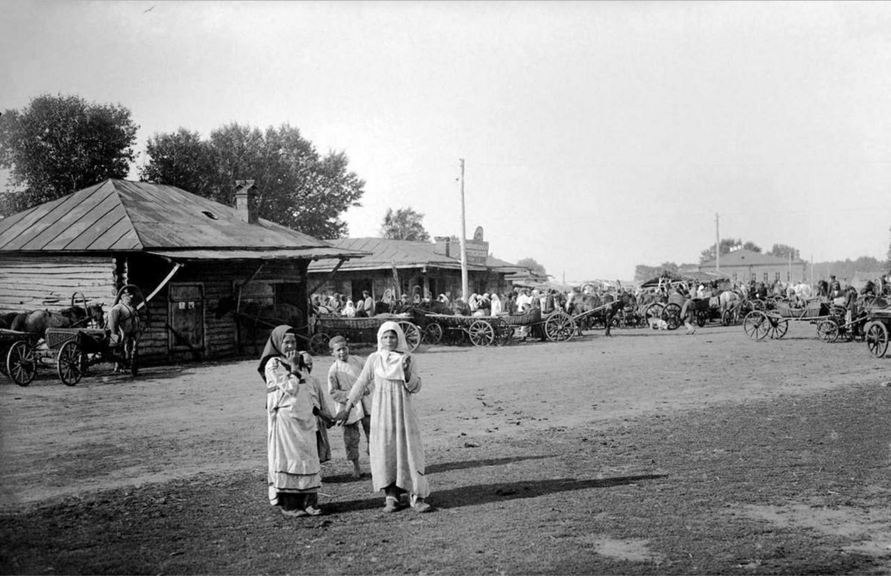 1925. Село Бродокалмак. Субботний базар на селе