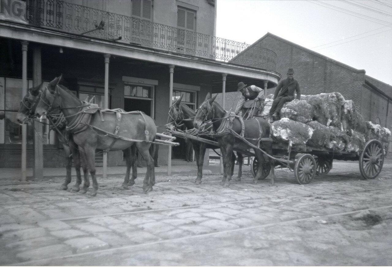 1896-1897. Путешествие Б.Д.Вострякова в Америку. Перевозка хлопка