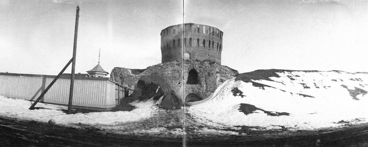 Евстафьевская башня и Авраамиевская улица. 1902