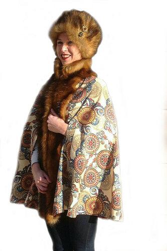 Женский карнавальный костюм Пончо в русском стиле