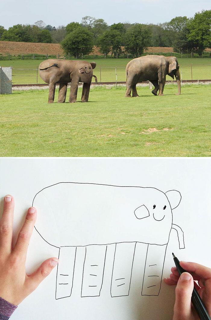 Слон с хоботом.
