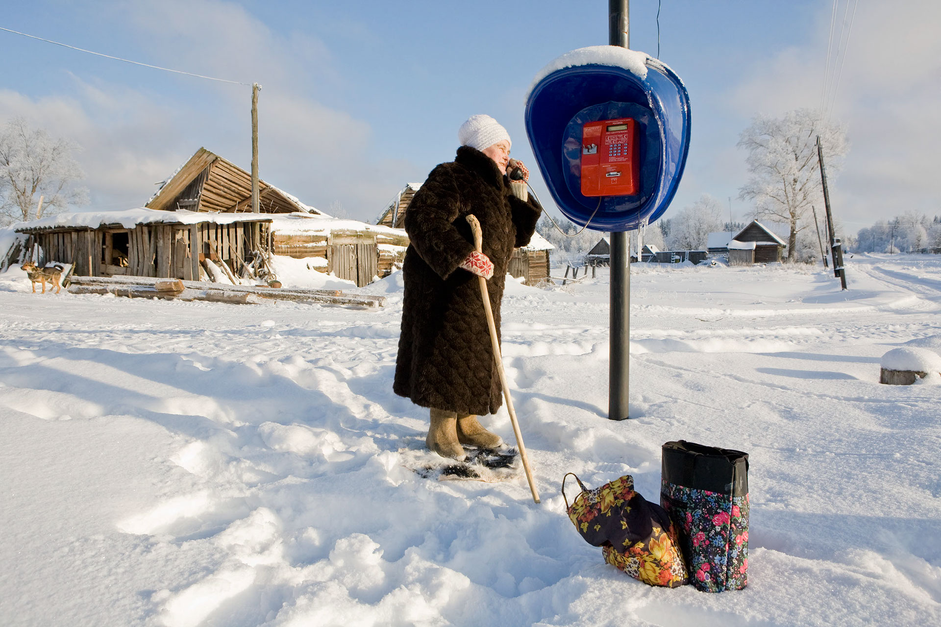 Budushee - Zukunft , ein Dorf zwischen Moskau und St. Petersburg im Winter