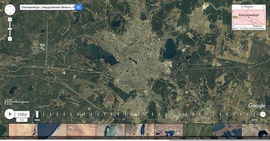 ВGoogle Earth предлагают посмотреть, как поменялась Земля за32 года