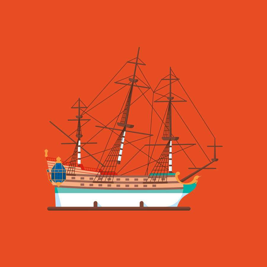 Flat Design Illustrations of the Adventures of Tintin