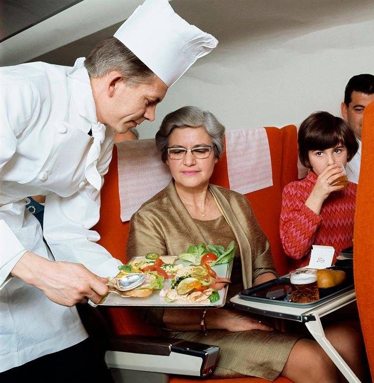 The incredible meals served by airlines during the golden age of aviation