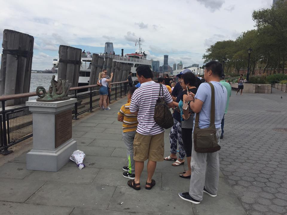 Elaborate Bronze Memorial Dedicated to Staten Island Ferry Octopus Attack Tricks Tourists