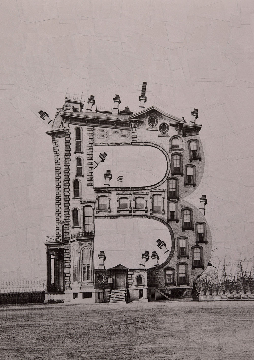 Buildings Shaped Like Letters of the Alphabet Made with Photographic Collage by Lola Dupre