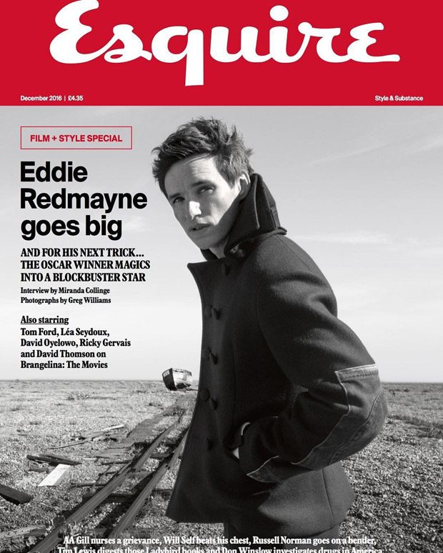 Eddie Redmayne Is the Cover Star of Esquire UK December 2016 Issue