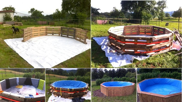 Pallet Swimming Pool Tutorial SHARE it with your friends!