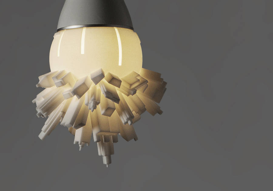 3D Printed Lightbulbs Shaped Like Skyscrapers