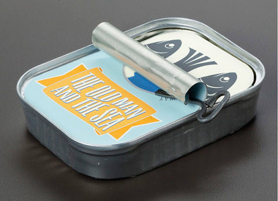 Tiny Book Packaged in a Sardines Tin (6 pics)