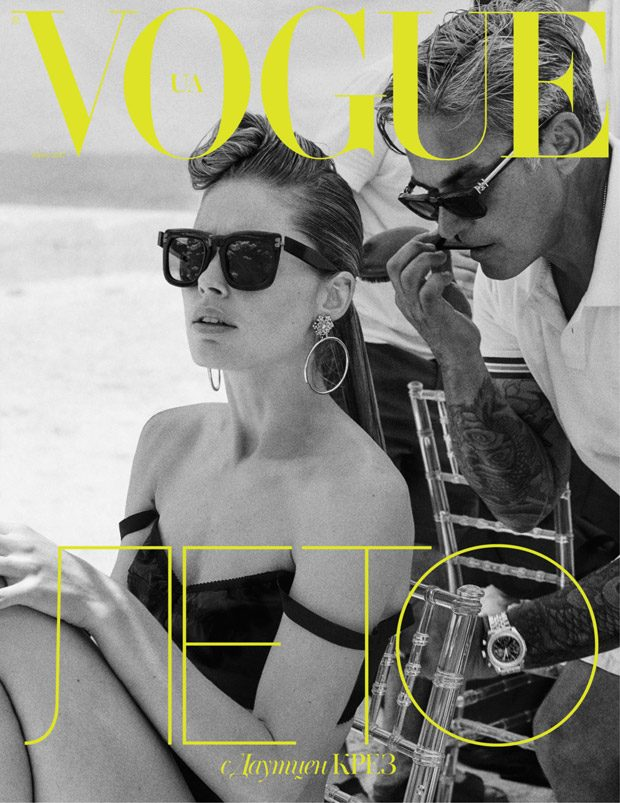 Doutzen Kroes Stars in the Cover Story of Vogue Ukraine June 2017 Issue