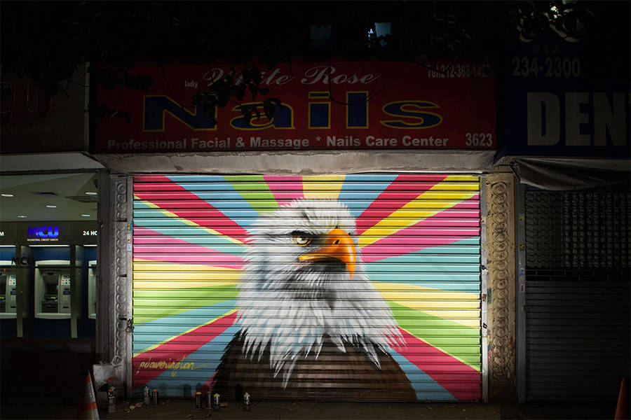 Painting Facades with Endangered Birds Species