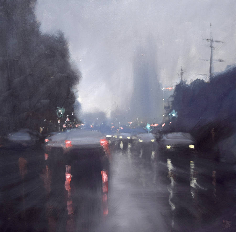 Beautiful Rain Paintings by Mike Barr