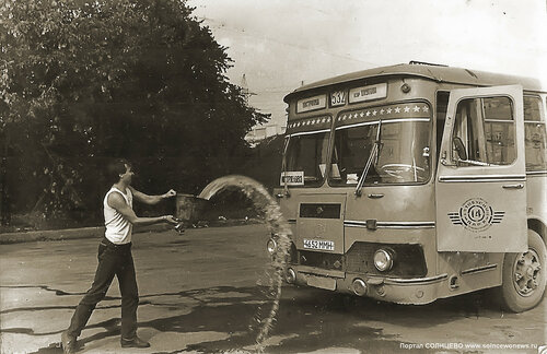 Востряково. Разворотный автобусный круг. 1985 год