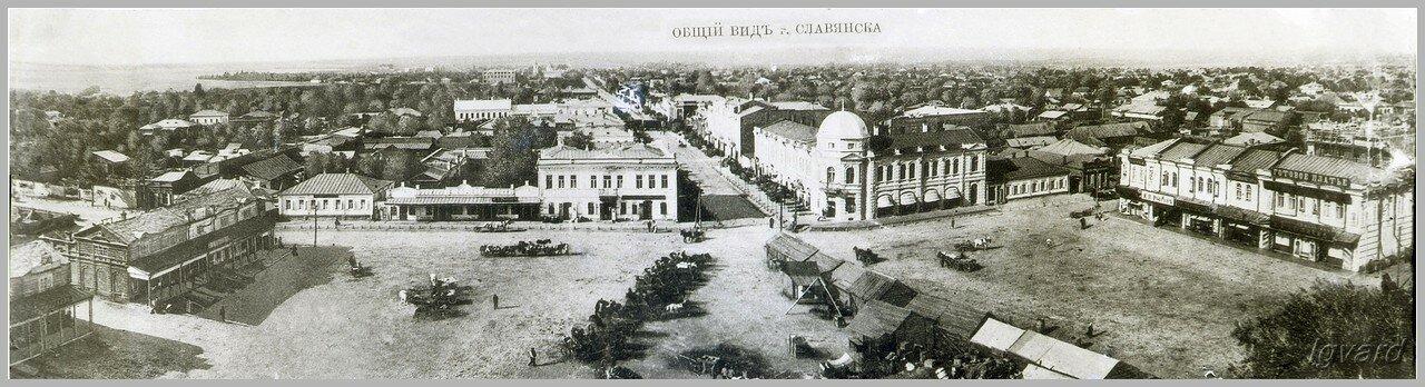 Вид на северную часть Славянска с высоты Троицкого собора