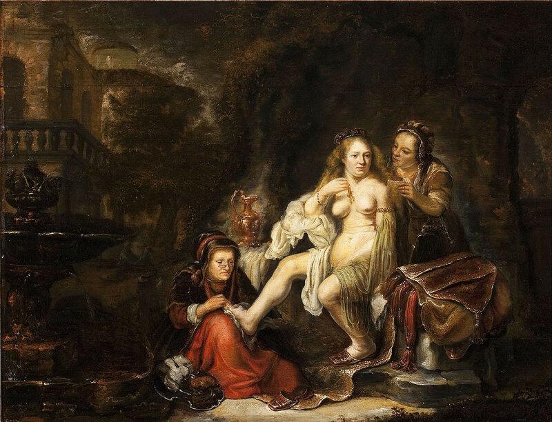 """Говерт Флинк """"Вирсавия получает письмо Давида"""" (около 1645)."""