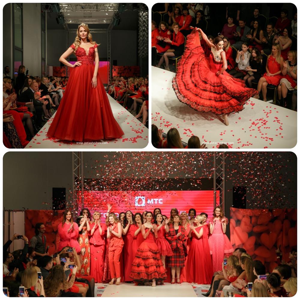 Фотоотчет с показа Red Dress МТС 2017. Известные люди Беларуси в поддержку профилактики заболевания сердца
