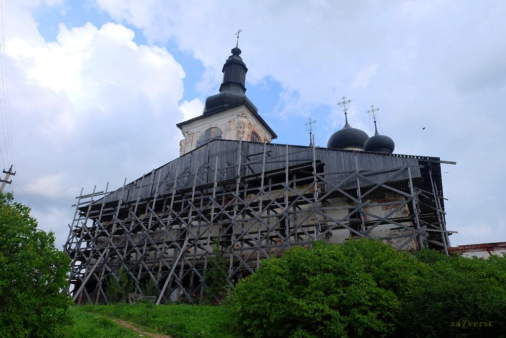 Горицкий Воскресенский монастырь в Вологодской области, реставрация храма